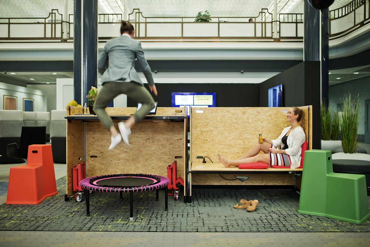 Im reversiblen Büro ist alles in Bewegung