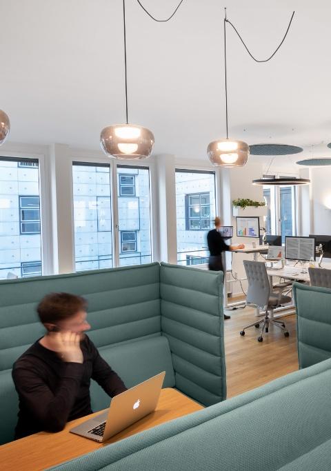 Gut geplantes Büro bei PIABO