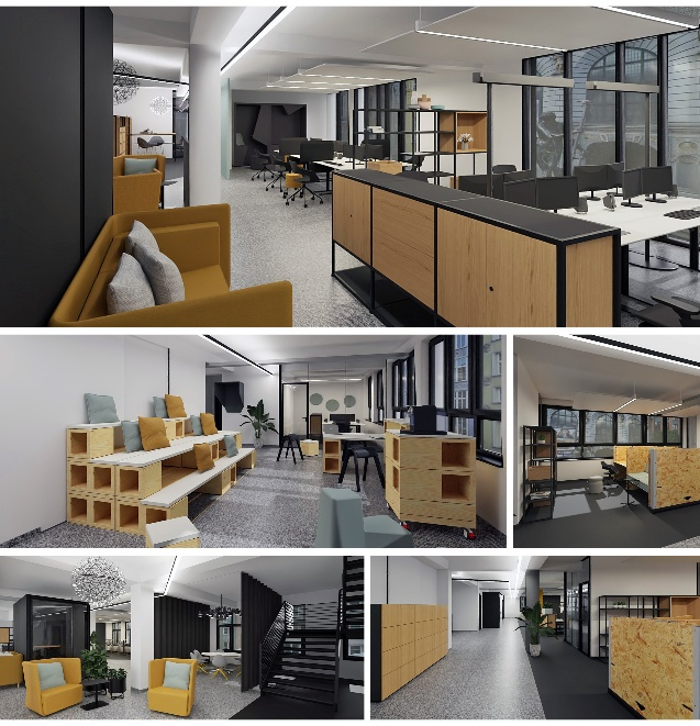 Beispiele für schnelle 3D-Büroplanung mit den New Office Modulen