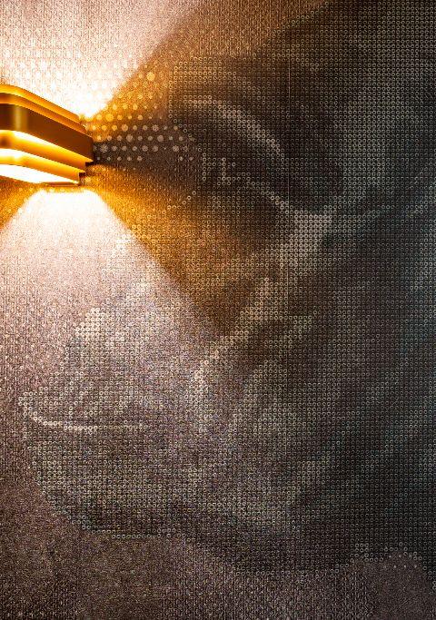 Gelungene Licht und Textil-Kombination